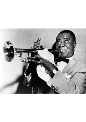 "Louis Armstrong - Trumpet Poster 36""x24"""