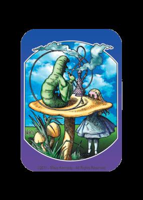 Alice Caterpillar Smoking On Mushroom Poster