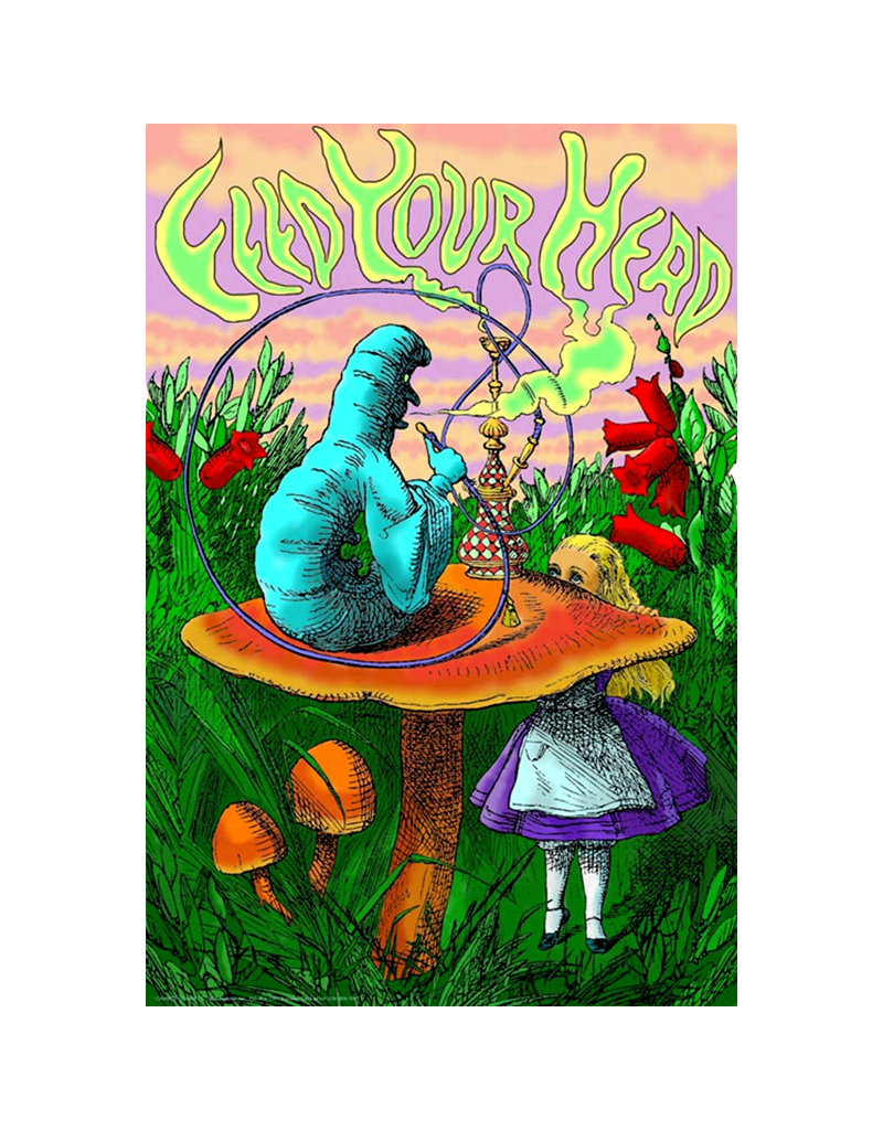 "Alice Caterpillar Hookah - Feed Your Head Poster 24""x36"""