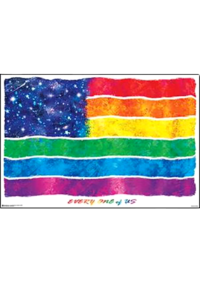 "Universal Flag - Everyone Of Us Poster 36""x24"""