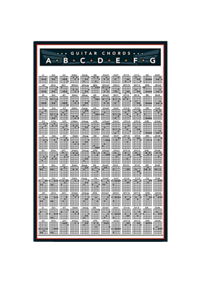 "Guitar Chords Poster 24""x36"""