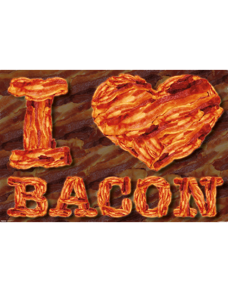 "I Heart Bacon Poster 36""x24"""