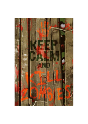 "Keep Calm and Kill Zombies Poster 24""x36"""