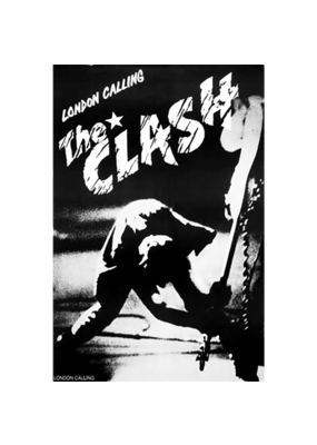 "The Clash - London Calling Black and White Poster 24""x36"""