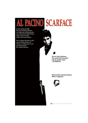 "Scarface - One Sheet Poster 24""x36"""