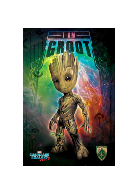 "Guardians Of The Galaxy - I Am Groot Poster 24""x36"""