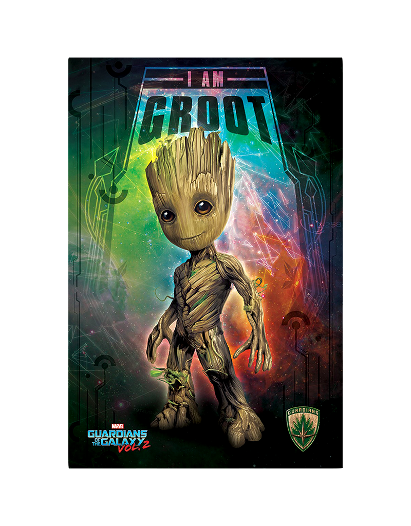 """Guardians Of The Galaxy - I Am Groot Poster 24""""x36"""""""