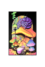 "Alice - Caterpillar With Hookah Blacklight Poster 24""x36"""