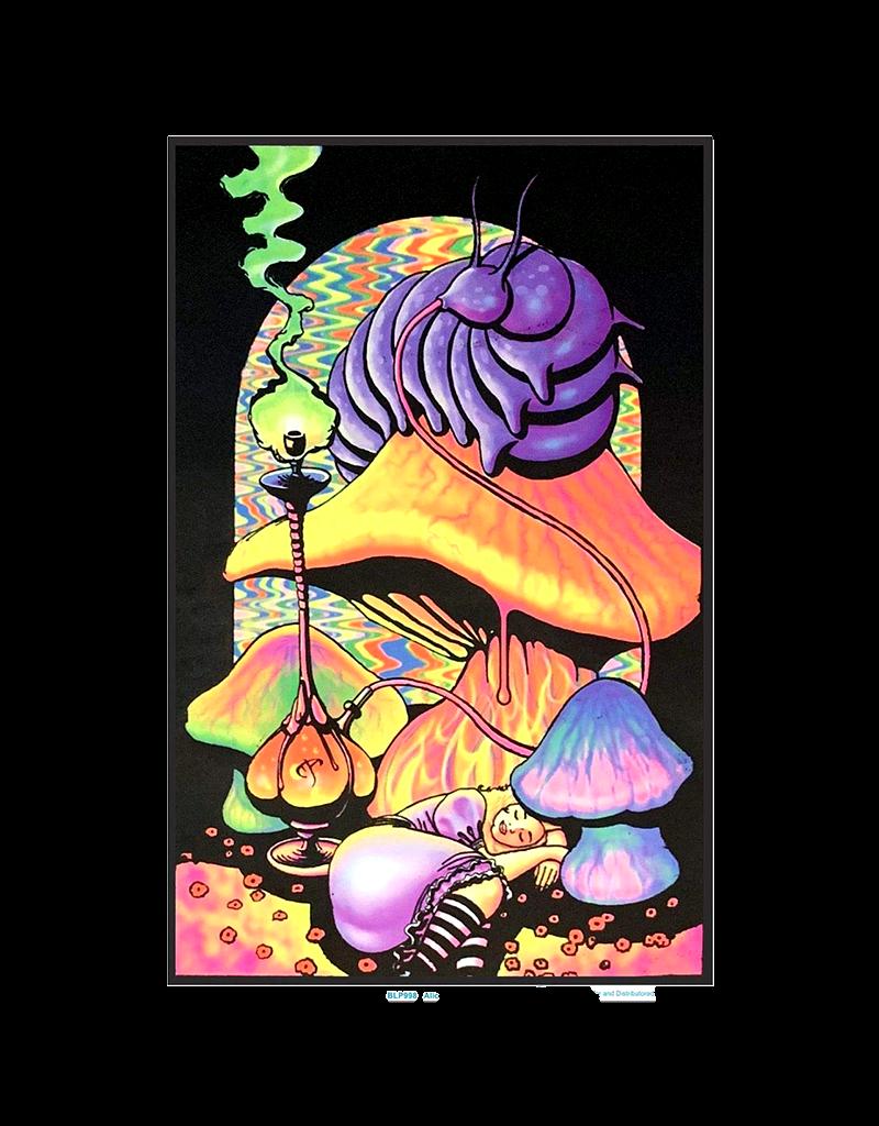 "Alice with Hookah Caterpillar Blacklight Poster 23""x35"""