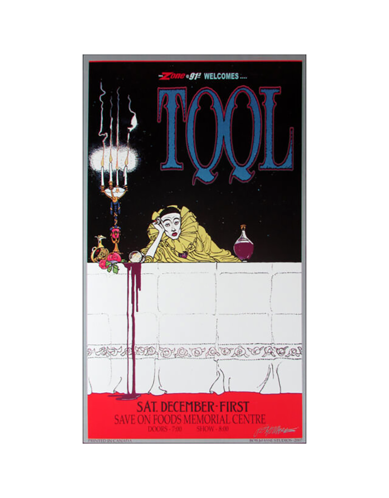 """Bob Masse - Tool Victoria Concert Poster 14.5""""x24.5"""""""