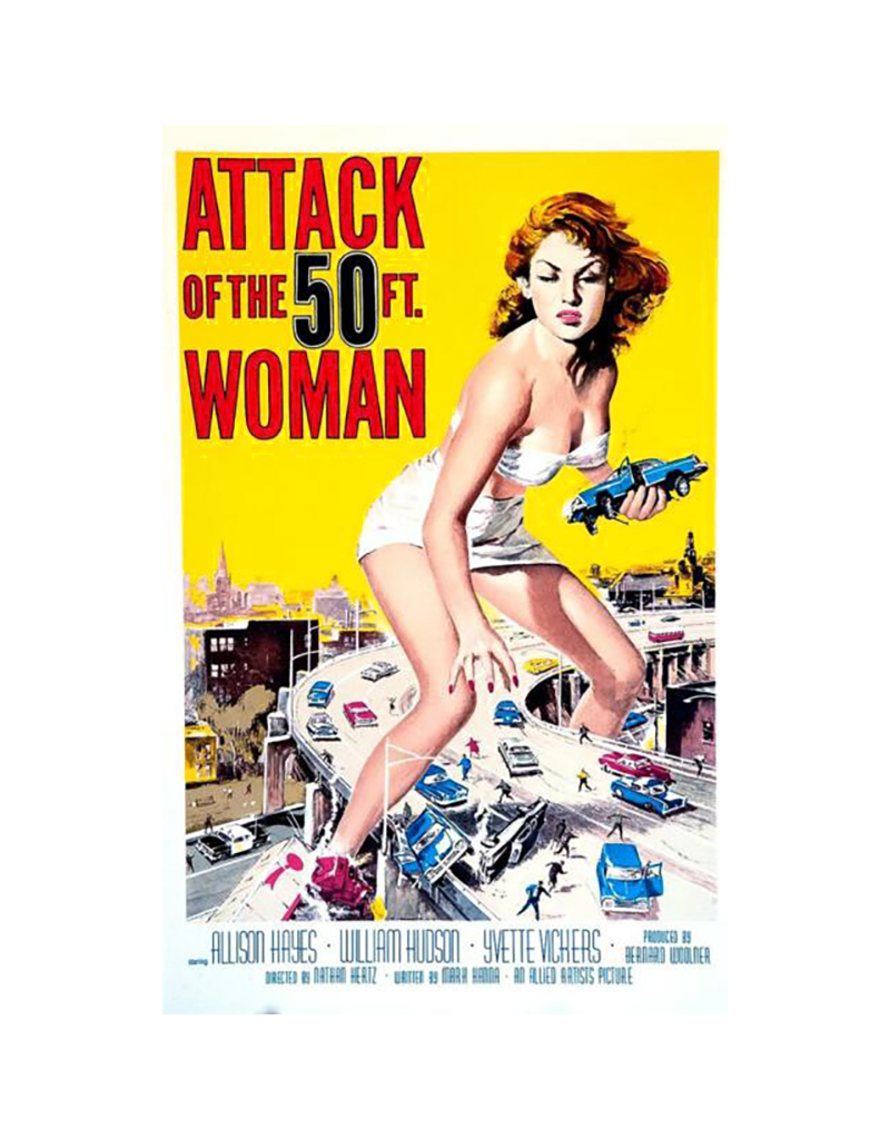 """Attack of the 50ft Woman Poster 24""""x36"""""""