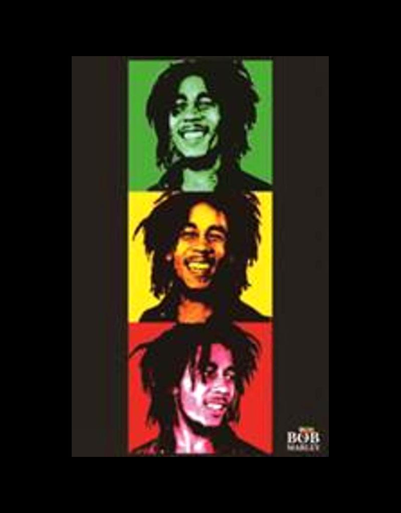 """Bob Marley - Triptych Blacklight Poster 23""""x35"""""""