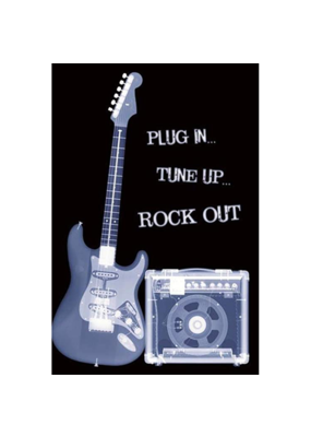 "Plug In Tune Up Rock Out Poster 24""x36"""