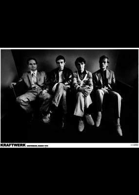 """Kraftwerk - Amsterdam March 1976 Poster 36""""x24"""""""