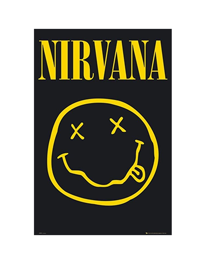 "Nirvana - Smiley Face Poster 24""x36"""