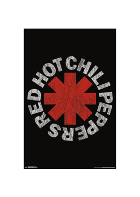 "Red Hot Chili Peppers - Distressed Logo Poster 24""x36"""