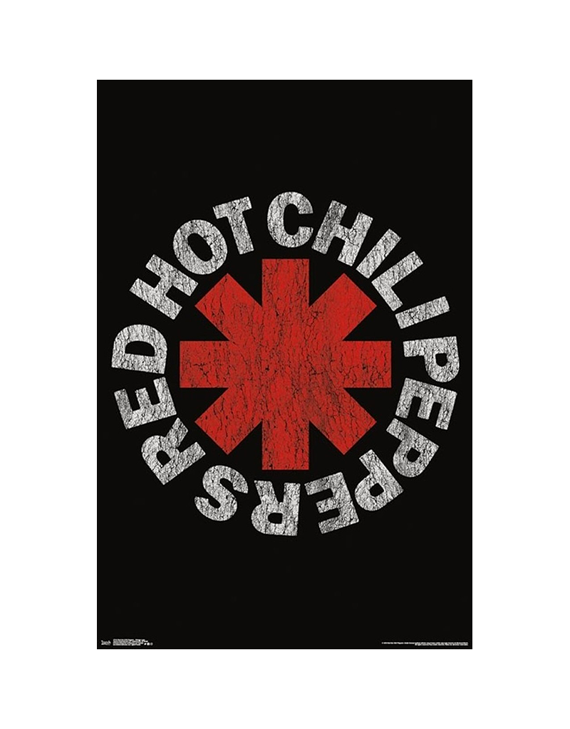 """Red Hot Chili Peppers - Distressed Logo Poster 24""""x36"""""""