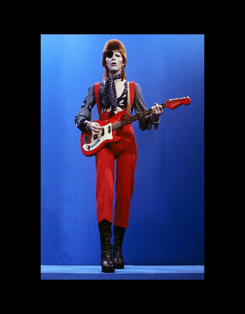 "David Bowie - Red Potrait Poster 24""x36"""
