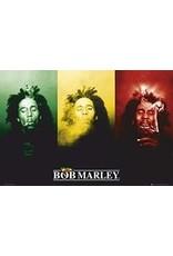 "Bob Marley - Smoke Trio Poster 36""x24"""