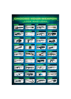 """Gaming Choose Your Weapon Poster 24""""x36"""""""