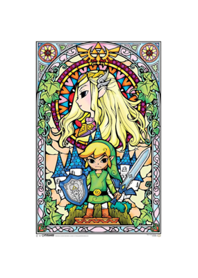 "Zelda - Stained Glass Window Poster 24""x36"""