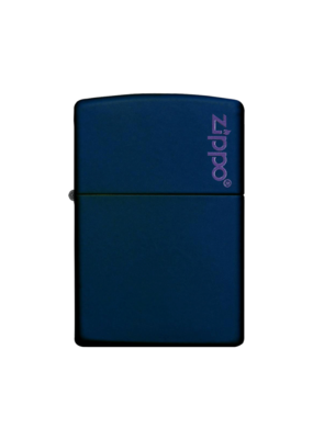 Classic Navy Blue Matte With Logo - Zippo Lighter