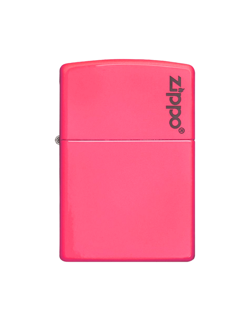 Neon Pink With Logo - Zippo Lighter