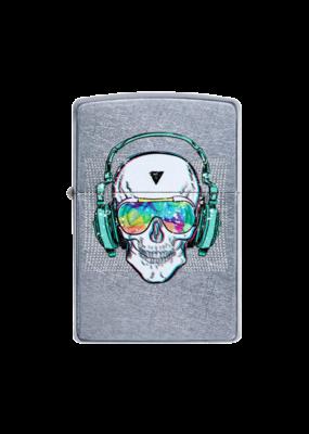 Skull With Headphones - Zippo Lighter