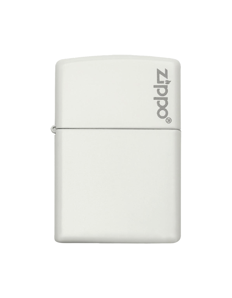 Classic White Matte With Logo - Zippo Lighter