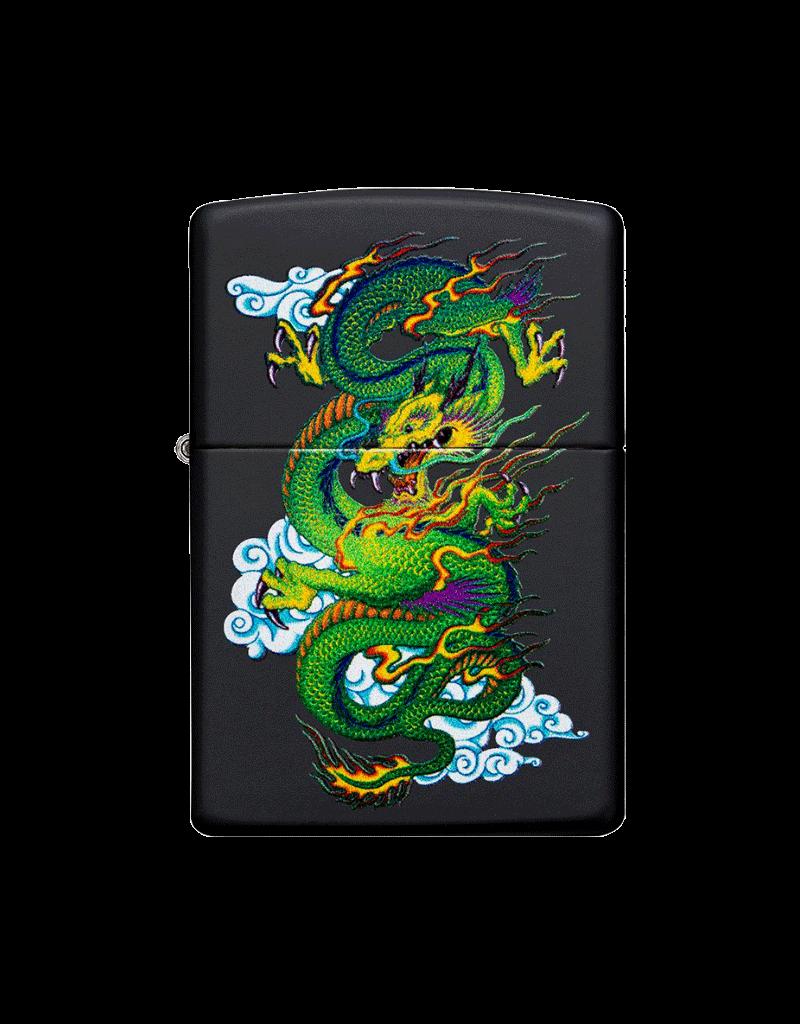 Dragon Black Matte - Zippo Lighter