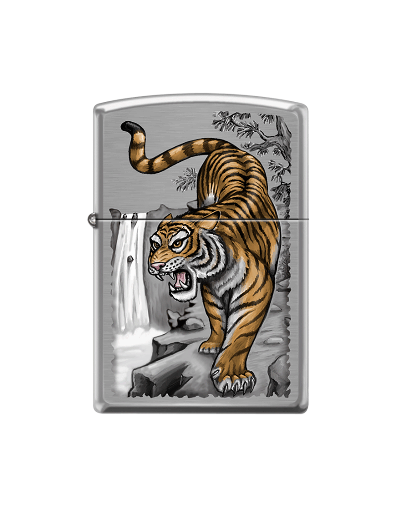 Tiger on Edge - Zippo Lighter