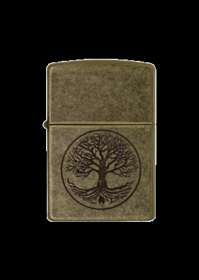 Tree of Life Antique Brass - Zippo Lighter
