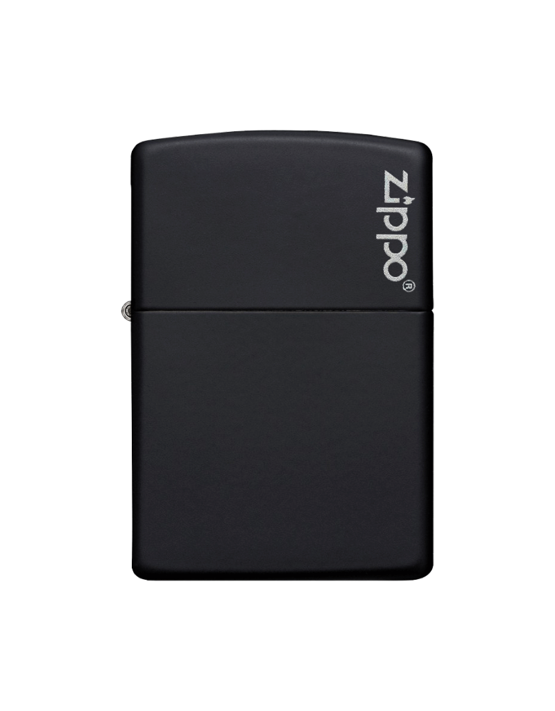 Classic Black Matte With Logo - Zippo Lighter