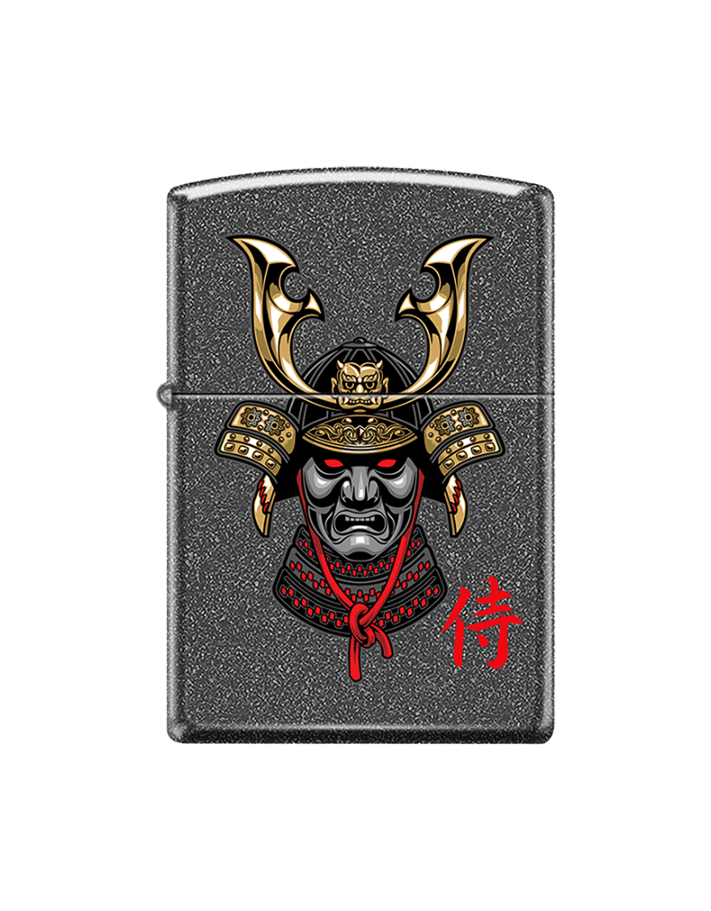Samurai With Helmet - Zippo Lighter