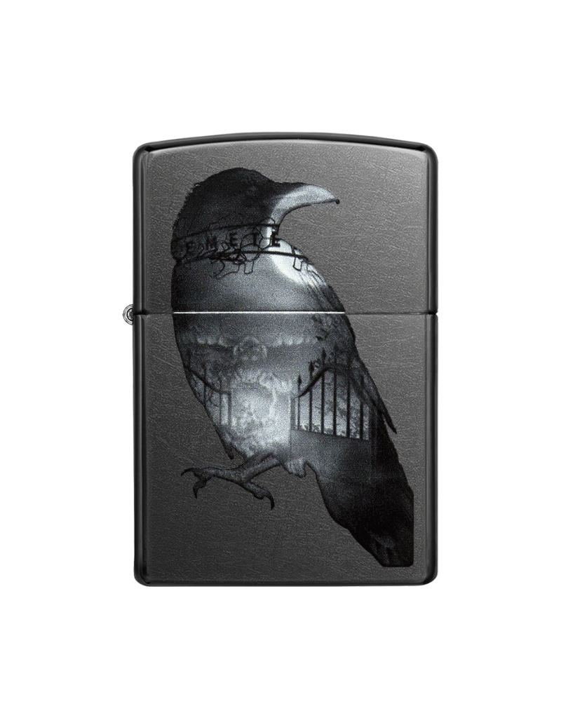 Double Exposed Raven - Zippo Lighter