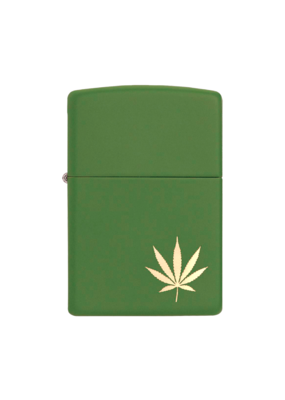 Marijuana Leaf on the Side - Zippo Lighter
