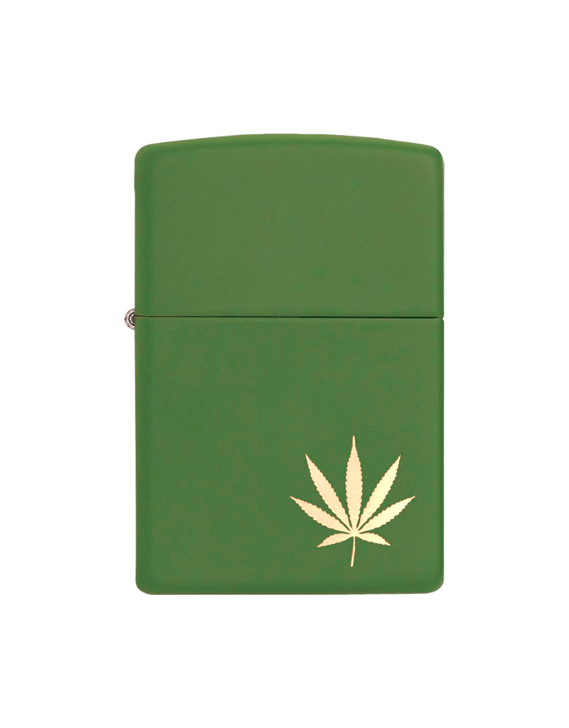 Marijuana Leaf on the Side - Zippo Lighter
