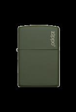 Classic Green Matte With Logo - Zippo Lighter