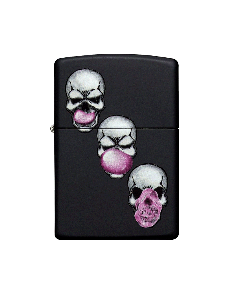 Skull Bubble Gum - Zippo Lighter