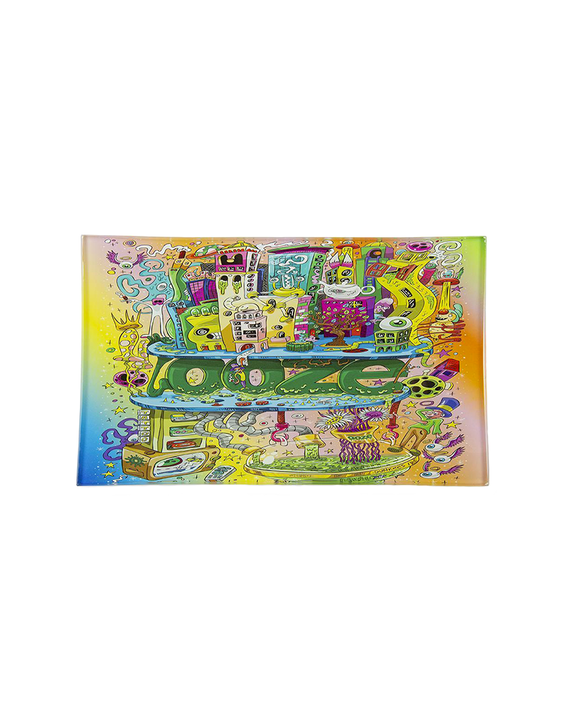 Ooze Oozeville Shatter Resistant Glass Rolling Tray