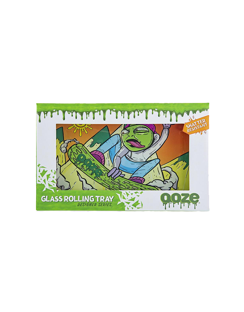 Ooze Slime Carver Shatter Resistant Glass Rolling Tray
