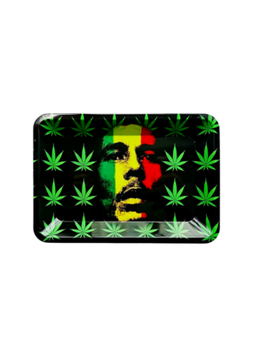 Bob Marley Rasta Face Leaf Metal Rolling Tray