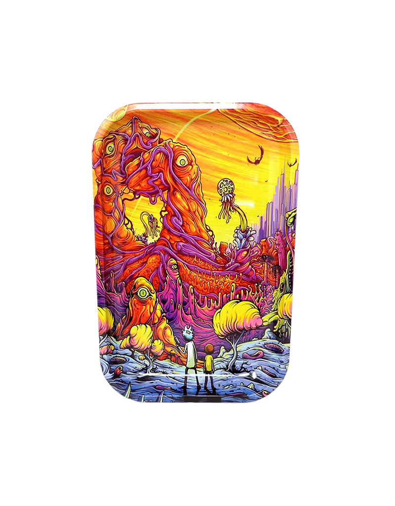 Rick and Morty Psychedelic Metal Rolling Tray