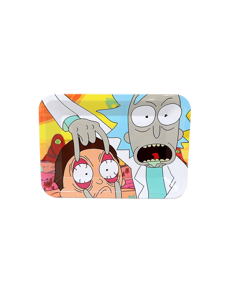 Rick and Morty Stare Metal Rolling Tray