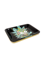 Rick and Morty Leaf Metal Rolling Tray