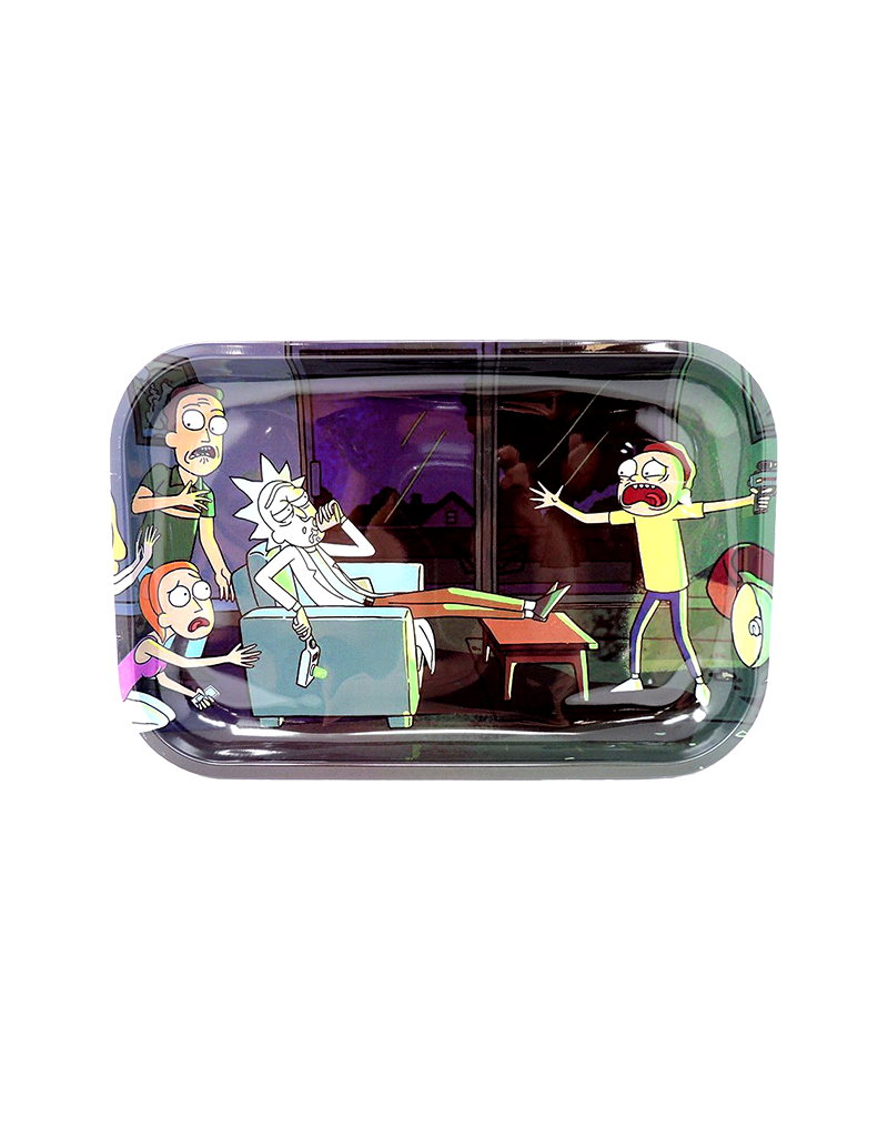 Rick and Morty Drunk Metal Rolling Tray