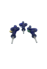 """3.5""""  Kitchen Blue Squiggle Nectar Collector With Titanium Tip"""