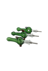 """5"""" Mears Green Donut Nectar Collector With Titanium Tip"""
