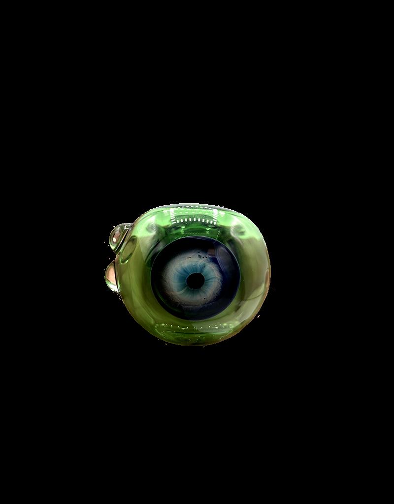 "5"" Charlie Eyeball Hand Pipe Green"