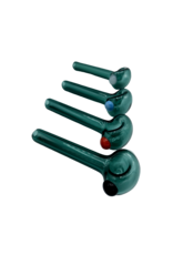 """3.25"""" Import Slayer Lake Green Hand Pipe With Color Accent"""